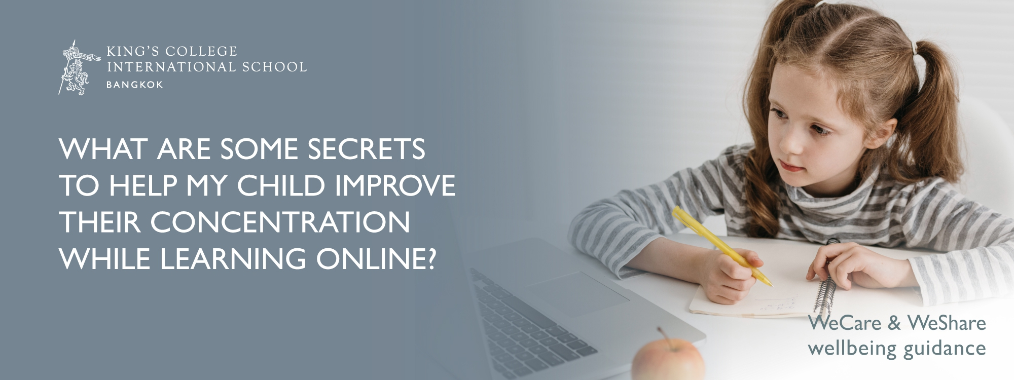 What are some secrets to help my child improve their concentration while learning online?
