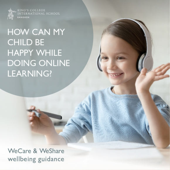 How can my child be happy while doing online learning?