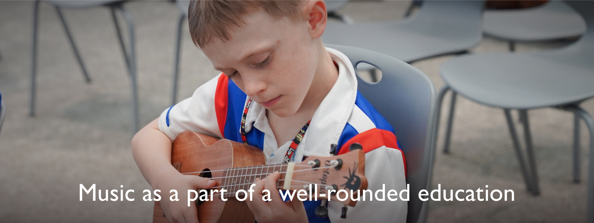 Music as a part of a well-rounded education.