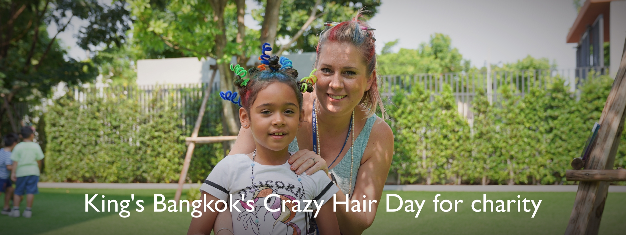King's Bangkok's Crazy Hair Day for charity.