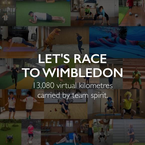 Let's race to Wimbledon