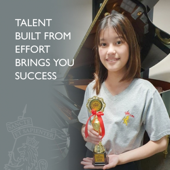 Talent built from effort brings you success